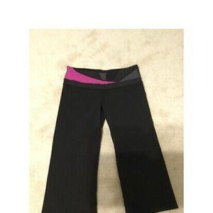 Women's black lululemon foldover long leggings